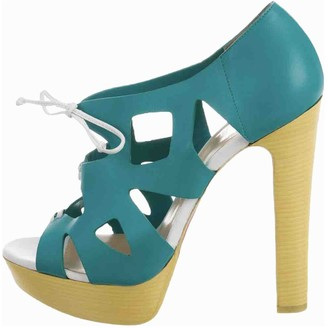 Christian Louboutin Turquoise Leather Sandals