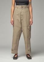 Yohji Yamamoto Y's by Women's Side Pocket Military Pant in Beige Size 2