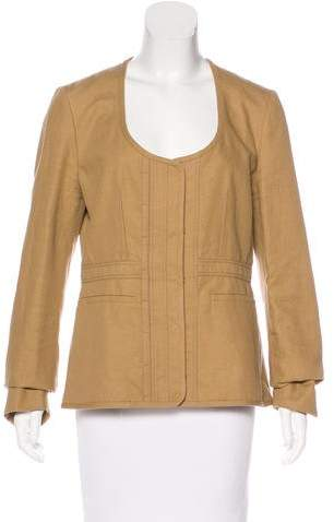 Chloé Scoop Neck Hook-And-Eye Jacket