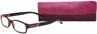 Select A Vision Select-A-Vision Women's Victoria Klein 9076 Red Round Reading Glasses 27 mm + 1.25