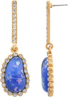 Kara Ross FINE JEWELRY 10021 | Crystal & Blue Resin Earrings