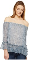 Lucky Brand Maze Off the Shoulder Top Women's Long Sleeve Pullover