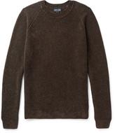 Giorgio Armani Mélange Ribbed-Knit Sweater