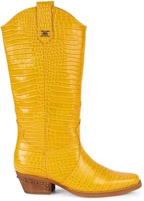 Sam Edelman Oakland Croc-Embossed Leather Cowboy Boots