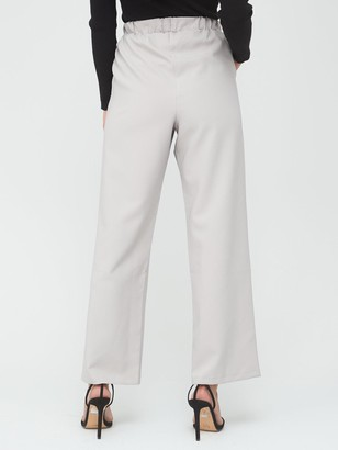 Very Tailored Wide Leg Joggers - Silver