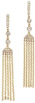Bloomingdale's Diamond Drop Tassel Earrings in 14K Yellow Gold, .40 ct. t.w.