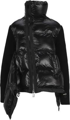 Sacai Knit Paneled Puffer Jacket