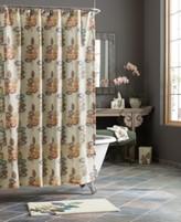 Croscill Bath, Mosaic Leaves Shower Curtain