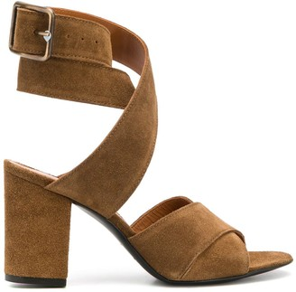 Via Roma 15 Textured Strappy Style Sandals