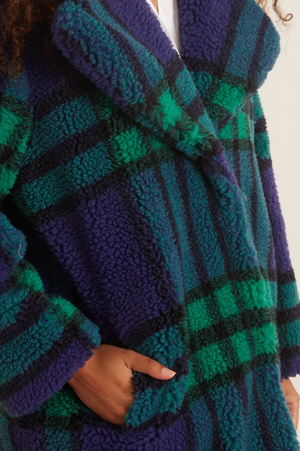 Thumbnail for your product : Stand Camilla Coat in Blue/Green