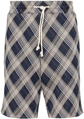 Maison Margiela geometric print bermuda shorts