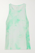 Thumbnail for your product : Nike Icon Clash City Sleek Mesh-paneled Tie-dyed Dri-fit Tank