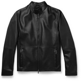HUGO BOSS Slim-fit Leather Jacket - Black