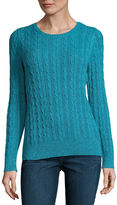 ST. JOHN'S BAY St. John's Bay Long Sleeve Crew Neck Pullover Sweater