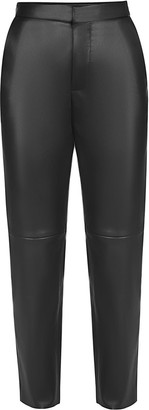 Flow Faux Leather Trousers In Black