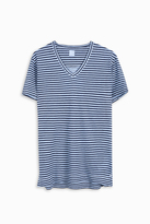 120% Lino Striped V-Neck T-Shirt