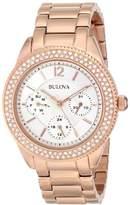 Bulova Women's 97N101 Swarovski Crystal Tone Watch