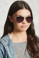 Forever 21 Brow-Bar Aviator Sunglasses