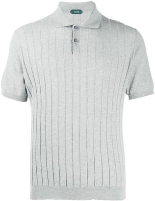 Zanone Short-Sleeve Ribbed Polo Shirt