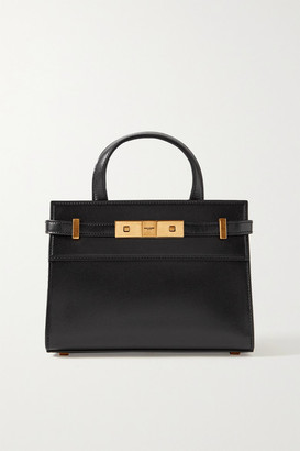 Saint Laurent Manhattan Micro Leather Tote - Black