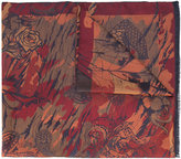 Etro abstract print scarf - men - Silk/Linen/Flax - One Size