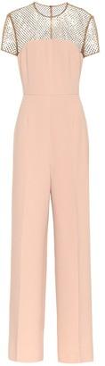 Stella McCartney Crystal-embellished crApe jumpsuit