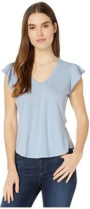 La Vie Rebecca Taylor Sleeveless Washed Textured Jersey (Freesia) Women's Blouse