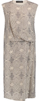 By Malene Birger Draped Embroidered Georgette Dress