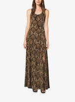 Michael Kors Python-Print Matte-Jersey Maxi Dress