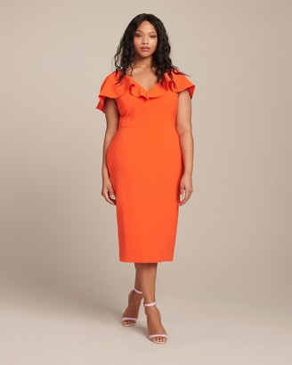 Christian Siriano Draped Overlay Dress