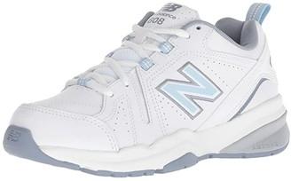 New Balance SINGLE SHOE - WX608v5 (White/Light Blue) Women's Shoes