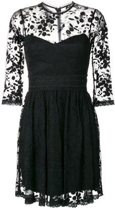 Three floor Weiss lace mini dress