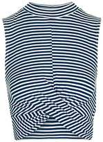 Topshop Striped twist front crop