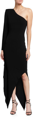 Alexandre Vauthier Stretch Jersey One-Shoulder Gown