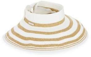 San Diego Hat Company Striped Rolled Wide Brim Visor