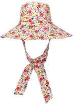 Ganni Exclusive to Mytheresa floral wide-brim hat