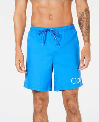 "Calvin Klein Men Logo 7"" Volley Swim Trunks"