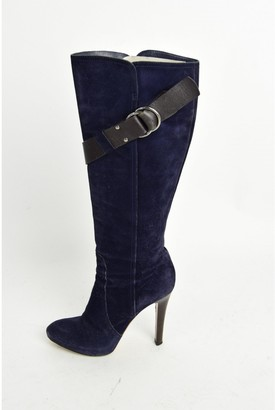 Givenchy Navy Suede Ankle boots