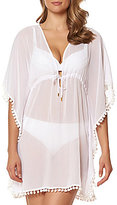 Bleu Rod Beattie Pom-Pom Caftan Cover-Up