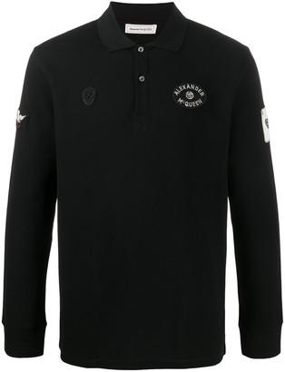 Alexander McQueen Logo Patches Polo Shirt