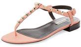 Balenciaga Studded Leather Thong Sandal