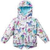 Janeyer® Janeyer Kids Girls Lightweight Hoody Scrawl Windbreaker Outfit Jacket Coat