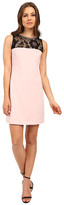 Jessica Simpson Scuba Shift Dress with Embellished Neck Trim JS6D8676