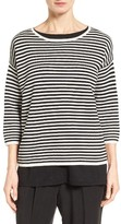 Eileen Fisher Women's Stripe Silk Blend Sweater