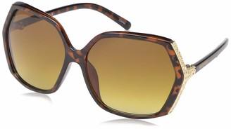 Southpole Women's 1007sp Ts Non-Polarized Iridium Round Sunglasses Tortoise 65 mm
