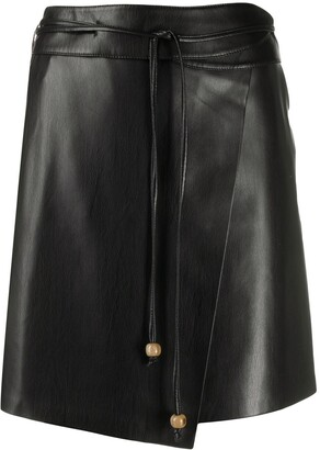 Nanushka Asymmetric Tie Waist Skirt