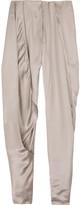 Satin cropped pants