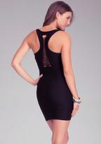 Bebe Braided Back Bodycon Dress