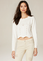 Bebe Scallop Cable Sweater