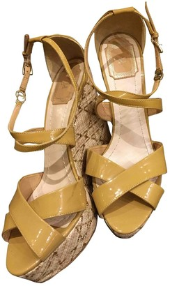 Christian Dior Camel Patent leather Sandals